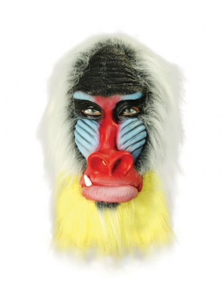 Baboon Overhead Mask Ape Monkey Animal Fancy Dress